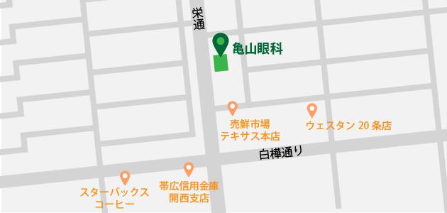 亀山眼科地図